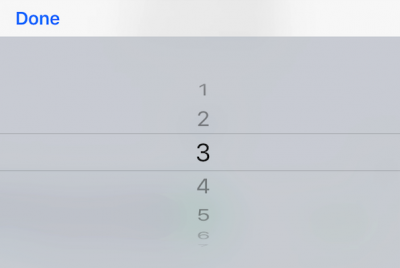 割り勘する人数(割り勘数)の選択になります。 1〜30までの数値を選択できます。