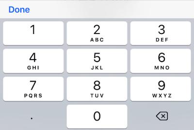 割り勘をさせたい割り勘元金額を入力してください。 選択すると、数値入力パッドが出てきます。